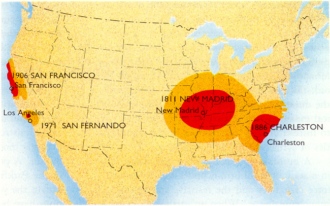 The Charleston S C Earthquake Of 1886 And The New Madrid Missouri Earthquakes Of 1811 12