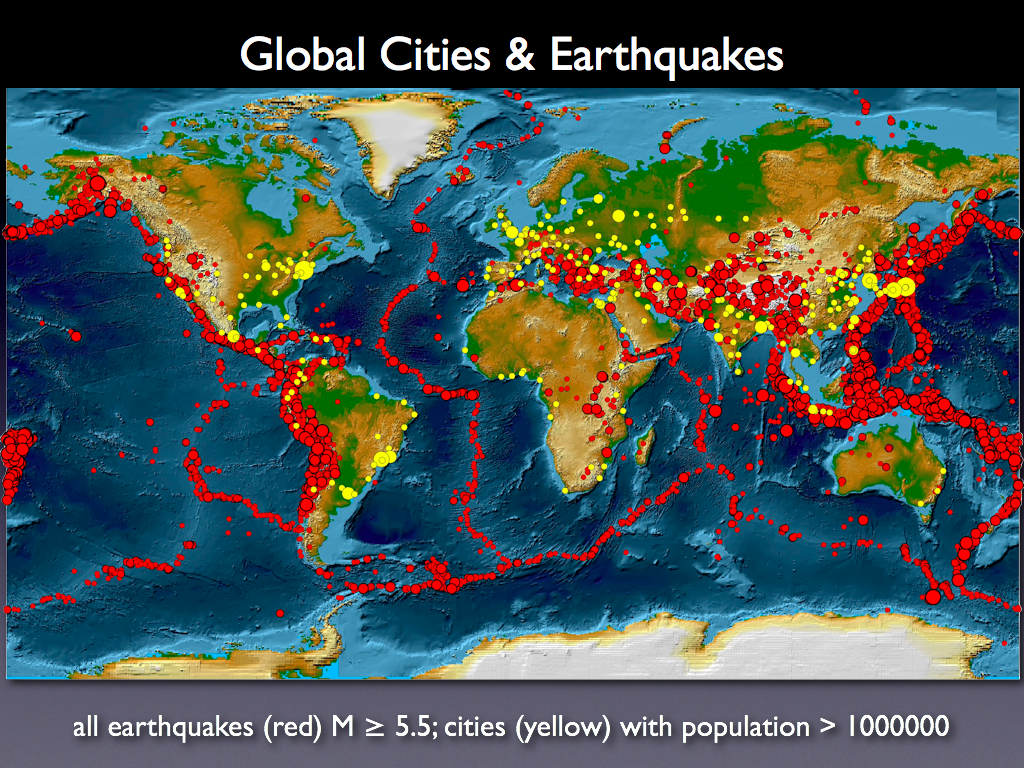 Global Earthquakes And Cities Rick Allmendinger S Stuff