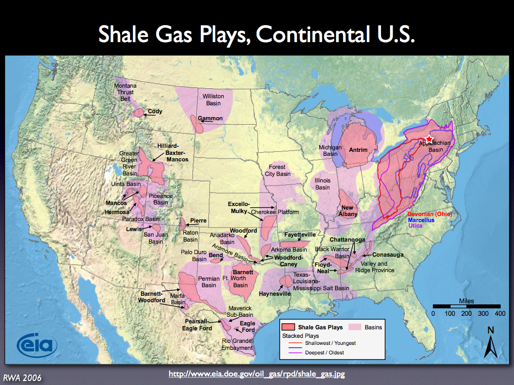 Shale Gas Plays In The Continental United States Rick - Us shale gas map